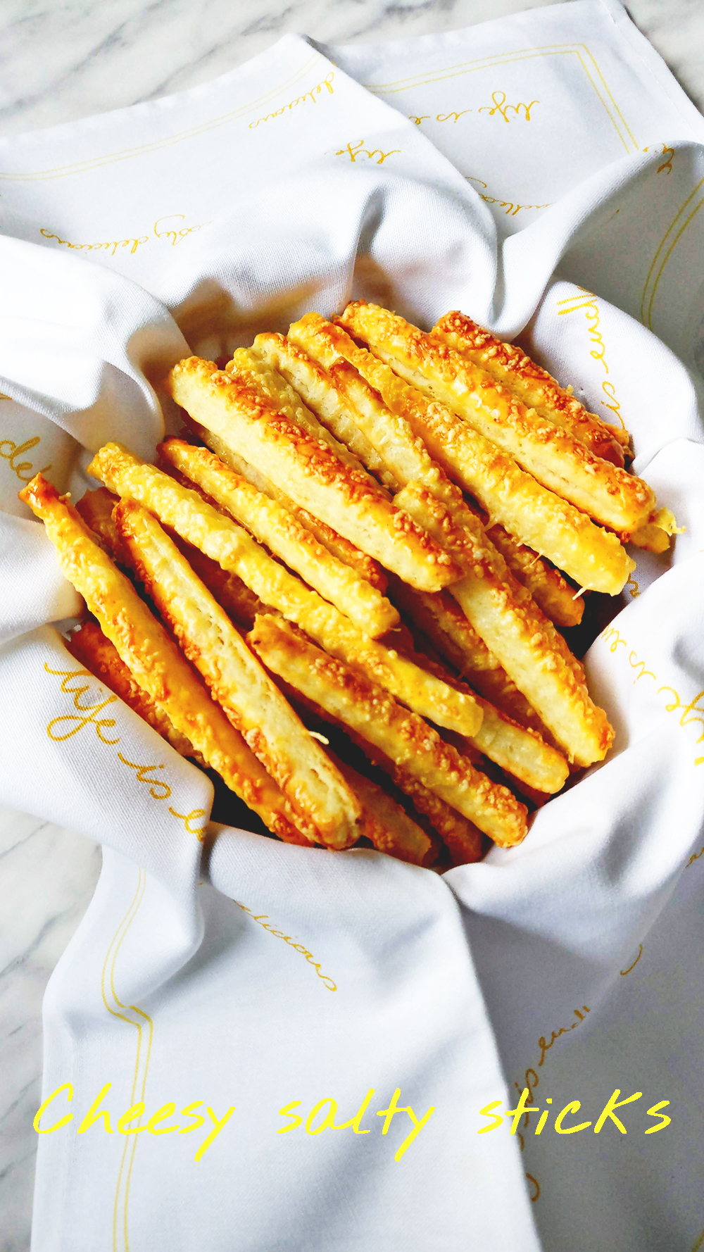 Cheesy salty sticks from 5 ingredients | Aliz's Wonderland #recipe #snack #saltystick