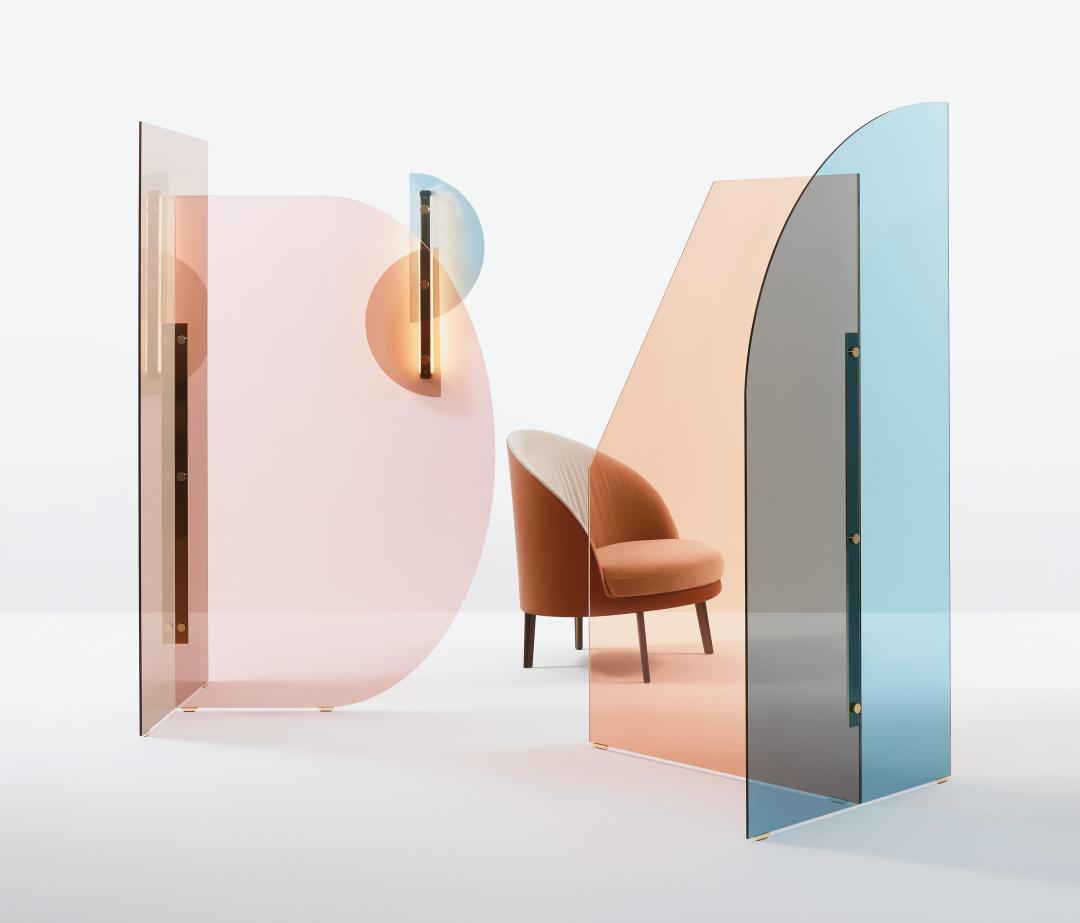 Vela Paravent by ARFLEX | Millennial pink ideas for your perfect home