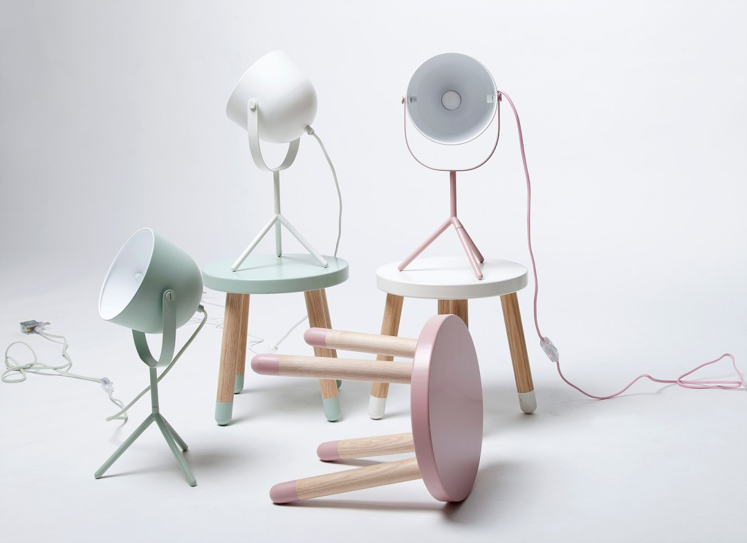 Monty desk lamp by Charlotte Honcke | Millennial pink ideas for your perfect home