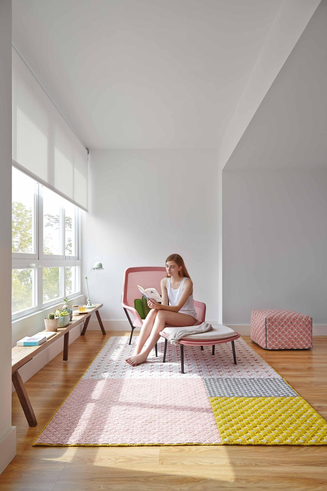 Silai Rug Pink 3 by GAN | Millennial pink ideas for your perfect home