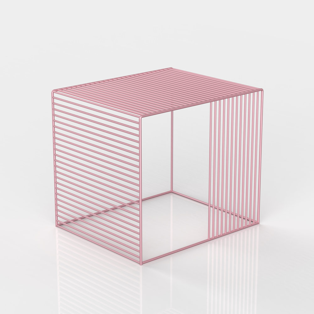 Wire Side Table by Iacoli & Mcallister | Millennial pink ideas for your perfect home