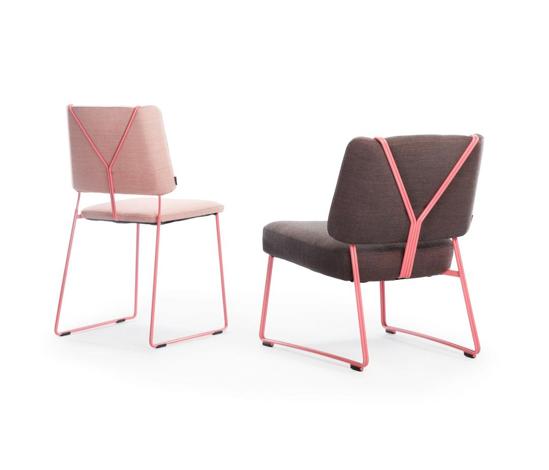 Frankie chair and Frankie ES Lounge chair by Johanson | Millennial pink ideas for your perfect home