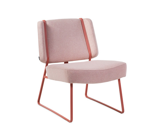 Frankie Lounge chair by Johanson | Millennial pink ideas for your perfect home