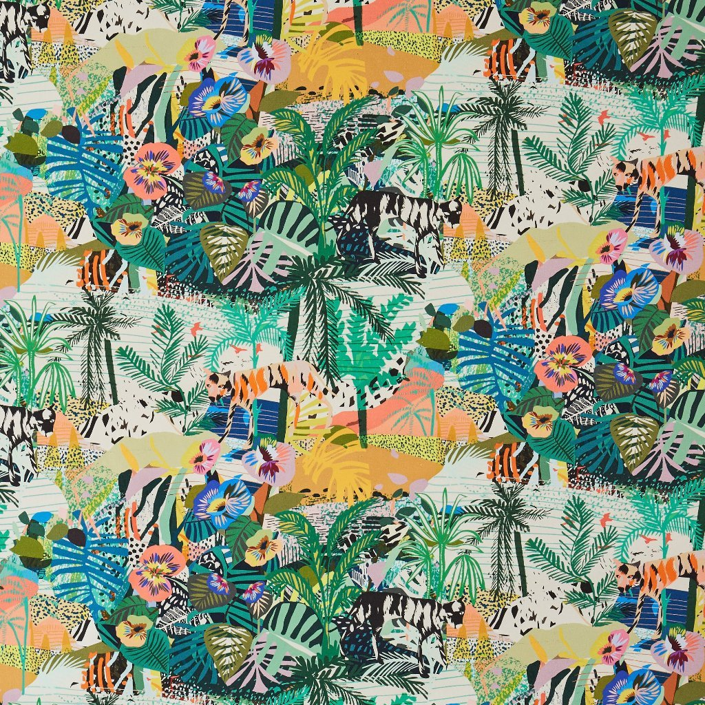 Utopia landscape print by Kitty McCally - Fabric with jungle pattern - Transform your home into a tropical paradise | Aliz's Wonderland
