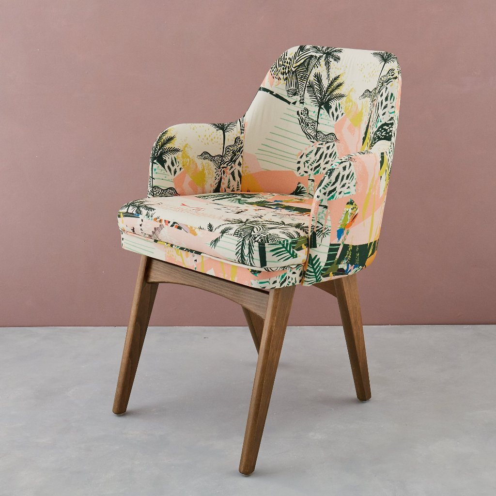 Queen palm armchair by Kitty McCally - Tropical upholstery - Transform your home into a tropical paradise | Aliz's Wonderland