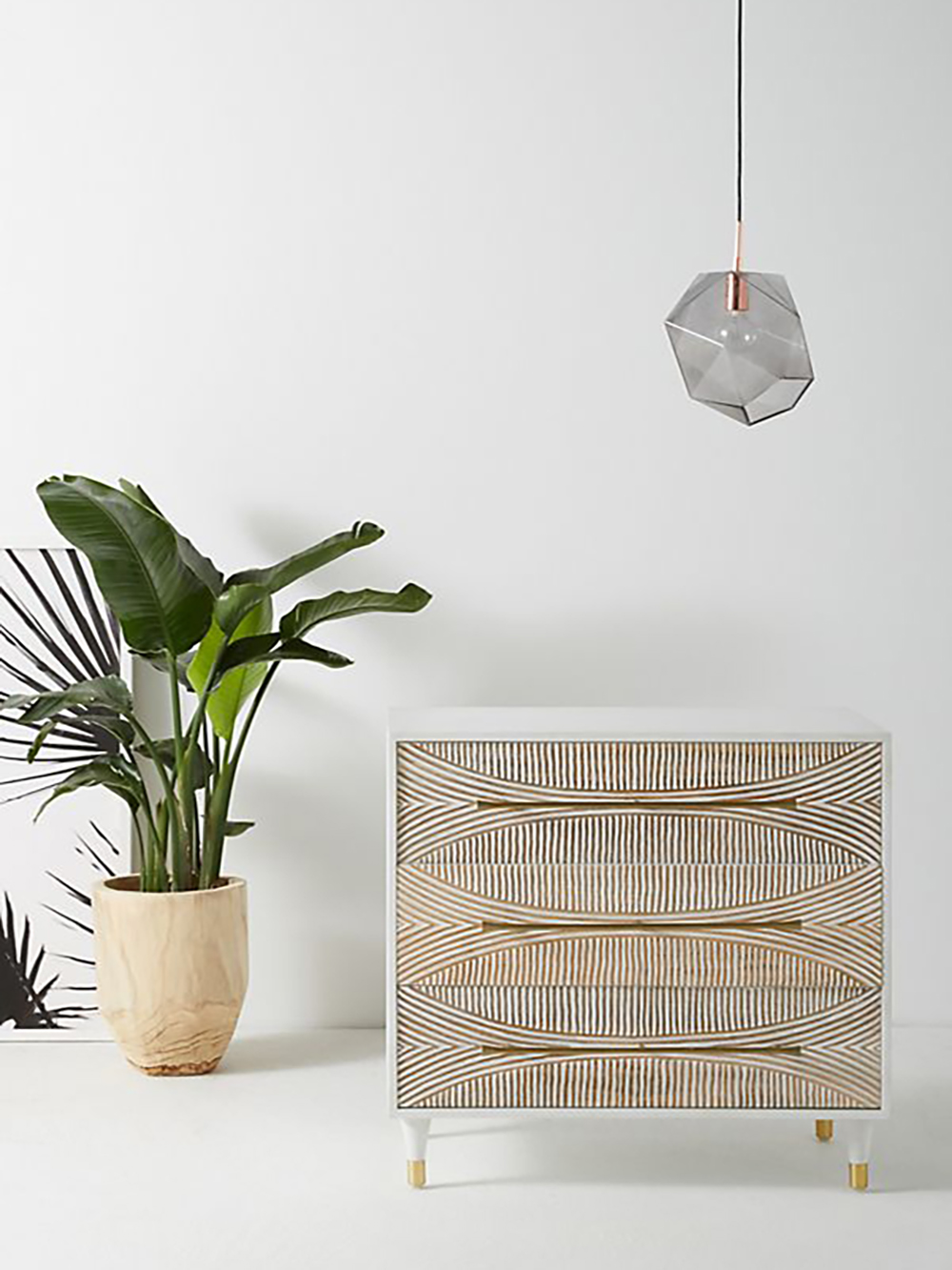 Carved Thalia Three-Drawer Dresser on anthropologie - Transform your home into a tropical paradise | Aliz's Wonderland