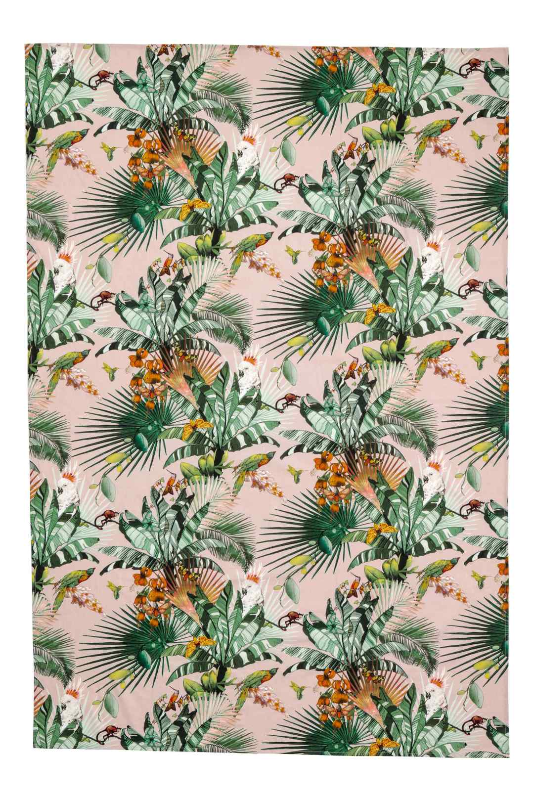 Patterned cotton tablecloth by H&M Home - Tropical kitchen - Transform your home into a tropical paradise | Aliz's Wonderland