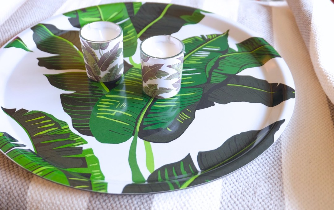 Banana leaf tray & Banana leaf candles by H&M Home - Tropical kitchen - Transform your home into a tropical paradise | Aliz's Wonderland
