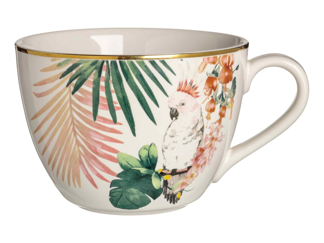Tropical porcelain cup by H&M Home - Tropical kitchen - Transform your home into a tropical paradise | Aliz's Wonderland