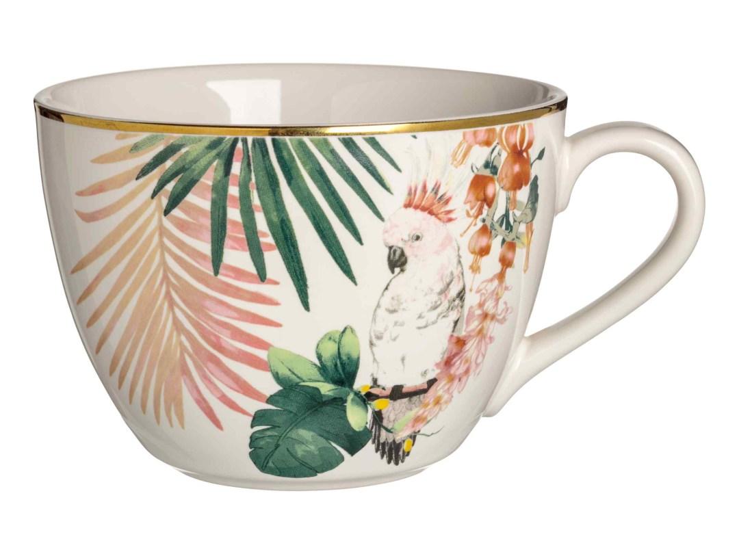 Tropical porcelain cup by H&M Home - Tropical kitchen - Transform your home into a tropical paradise | Aliz's Wonderland