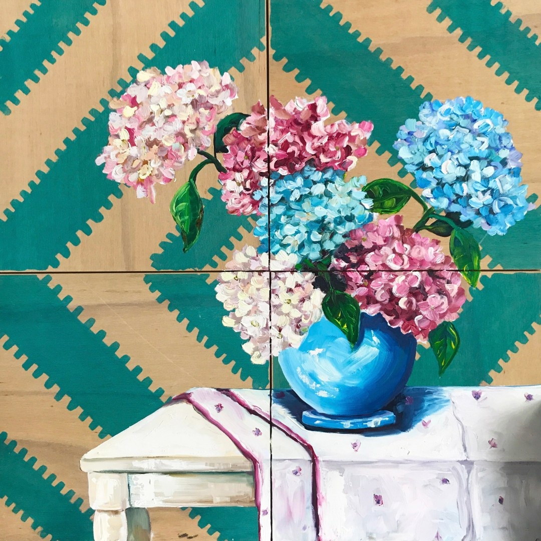 Ali Wood flower painting: Decisions made - How to give life to your interior with floral pattern? | Aliz's Wonderland