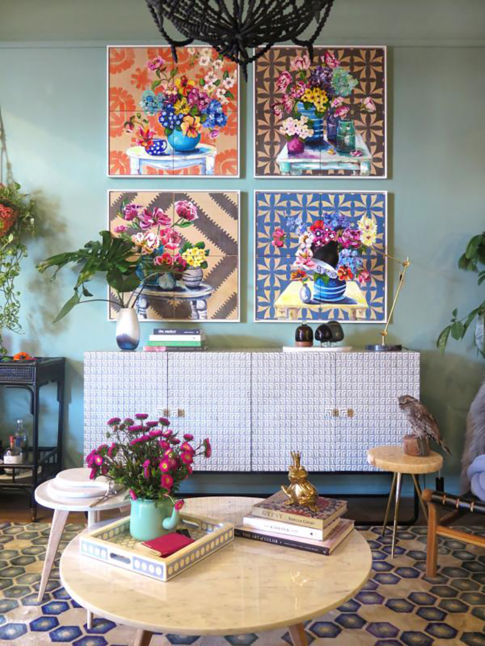 Ali Wood still life and flowers paintings - How to give life to your interior with floral pattern? | Aliz's Wonderland