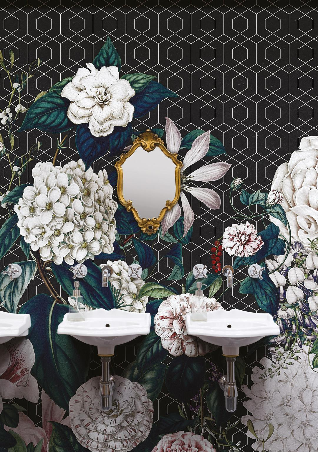 Valeria Zaltron's wallpaper Botanical Garden by Londonart - How to give life to your interior with floral pattern? | Aliz's Wonderland