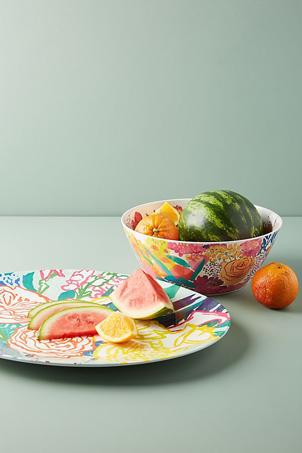 Paint + Petals Melamine Serving Bowl on anthropologie - How to give life to your interior with floral pattern? | Aliz's Wonderland