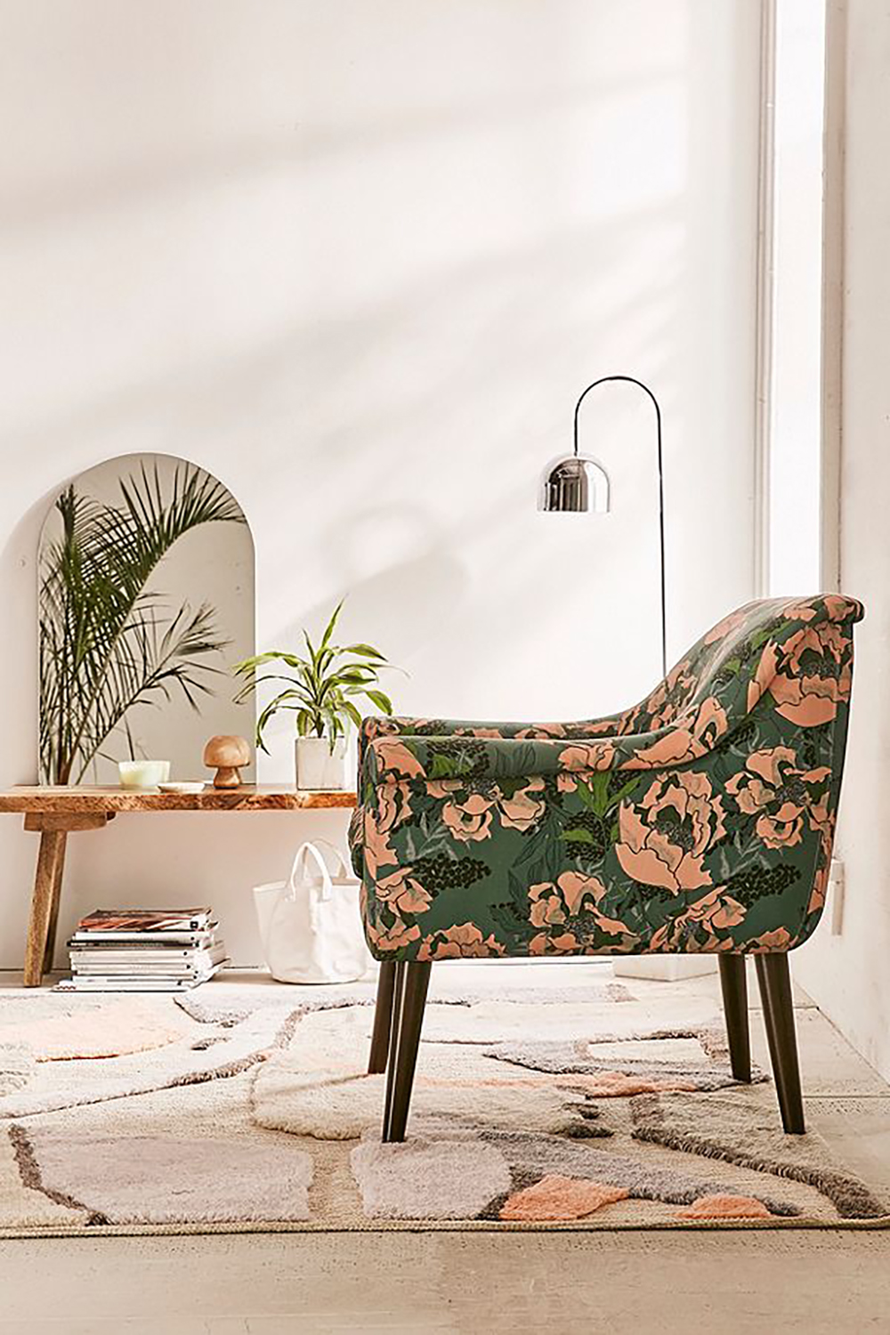 Polly floral print armchair by the urban outfitters - How to give life to your interior with floral pattern? | Aliz's Wonderland