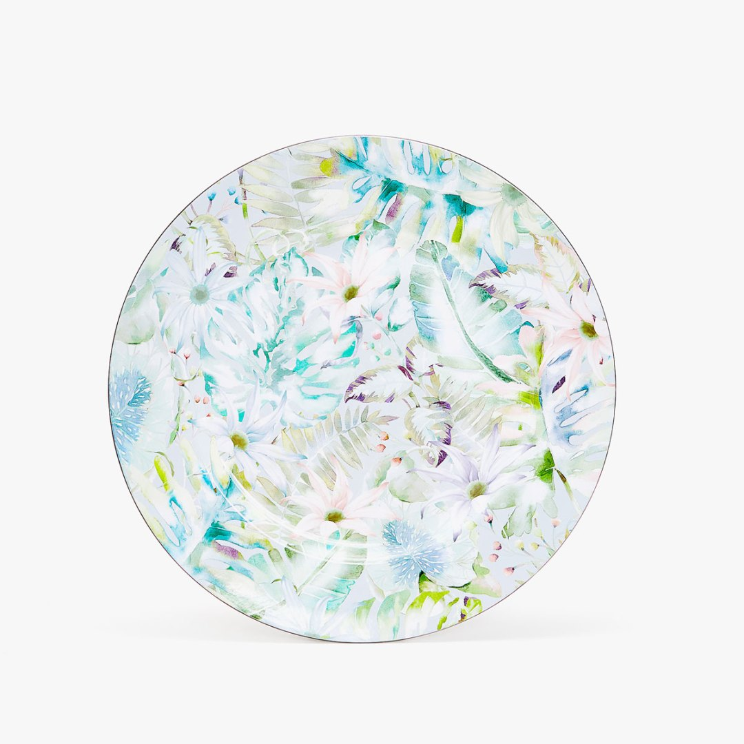 Floral print charger plate by Zara Home - How to give life to your interior with floral pattern? | Aliz's Wonderland