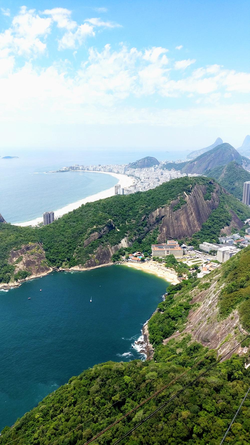 Praia Vermelha and Praia Copacabana from the Sugarloaf mountain - Best beaches in Rio de Janeiro | Aliz's Wonderland