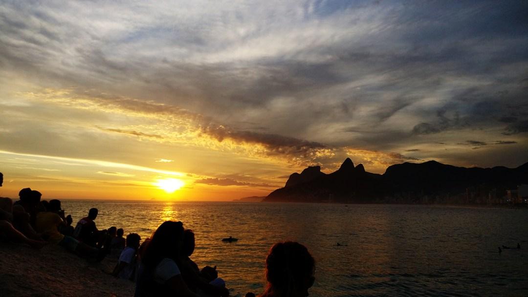 Sunset at Praia do Arpoador - Best beaches in Rio de Janeiro   Aliz's Wonderland