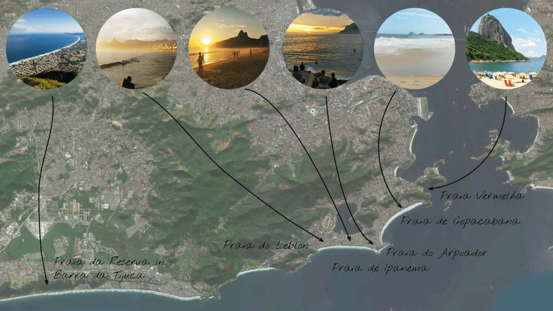 Map of the best beaches in Rio de Janeiro | Aliz's Wonderland