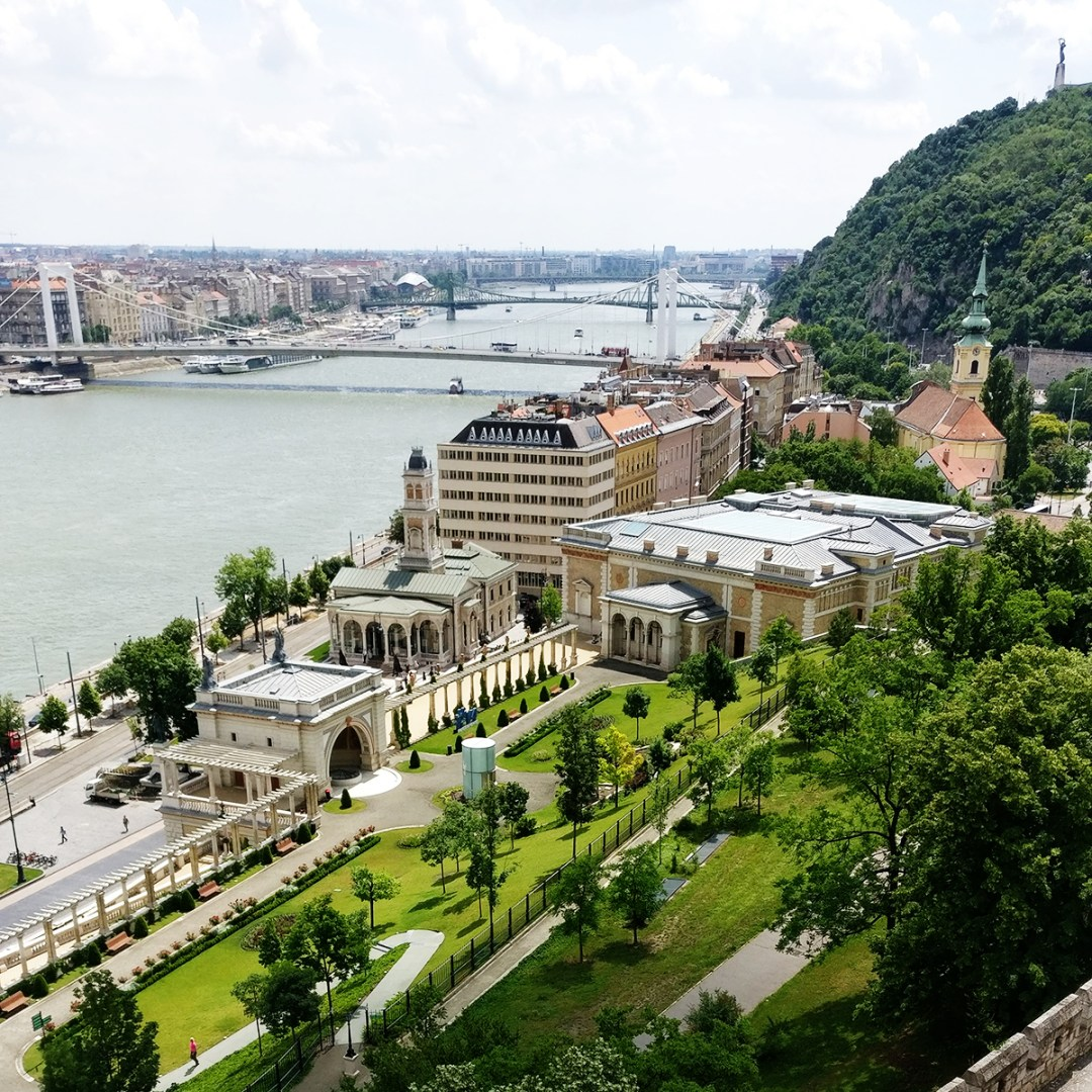 Panorama from terrace of Buda Castle, Castle District - Top 5 viewpoints in Budapest Hungary, recommended by a local | Aliz's Wonderland