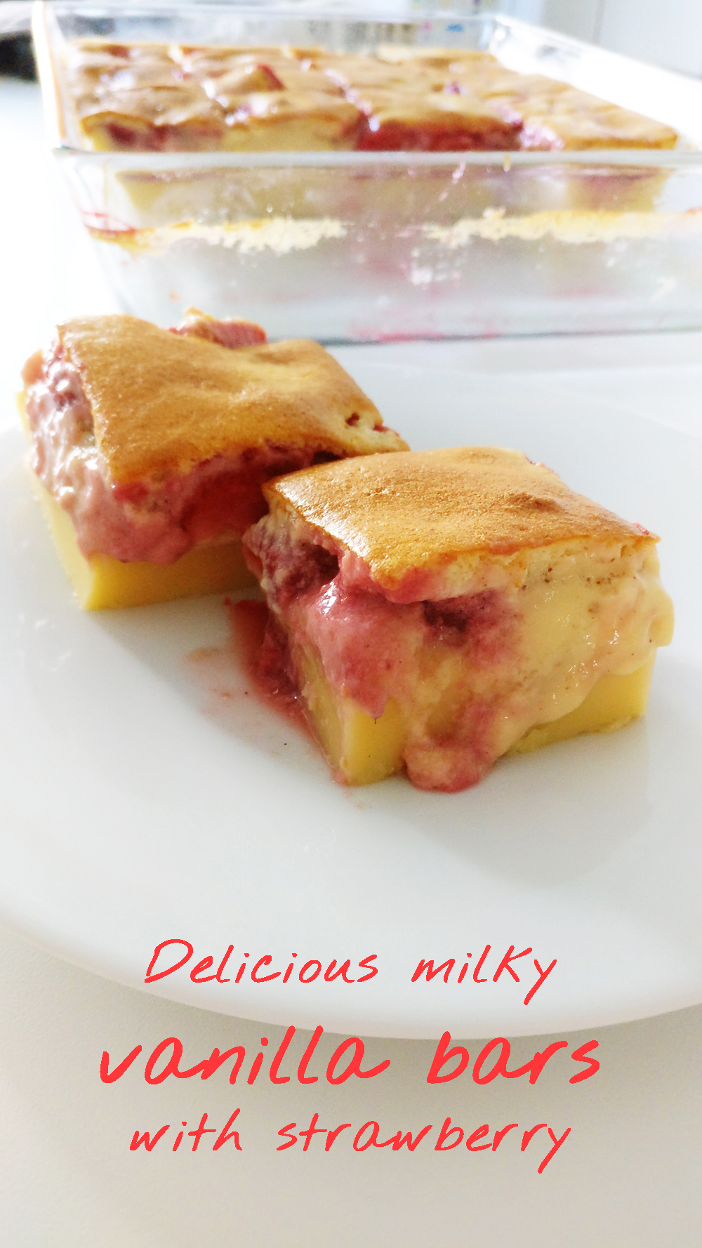 Delicious milky vanilla bars with strawberry | Aliz's Wonderland