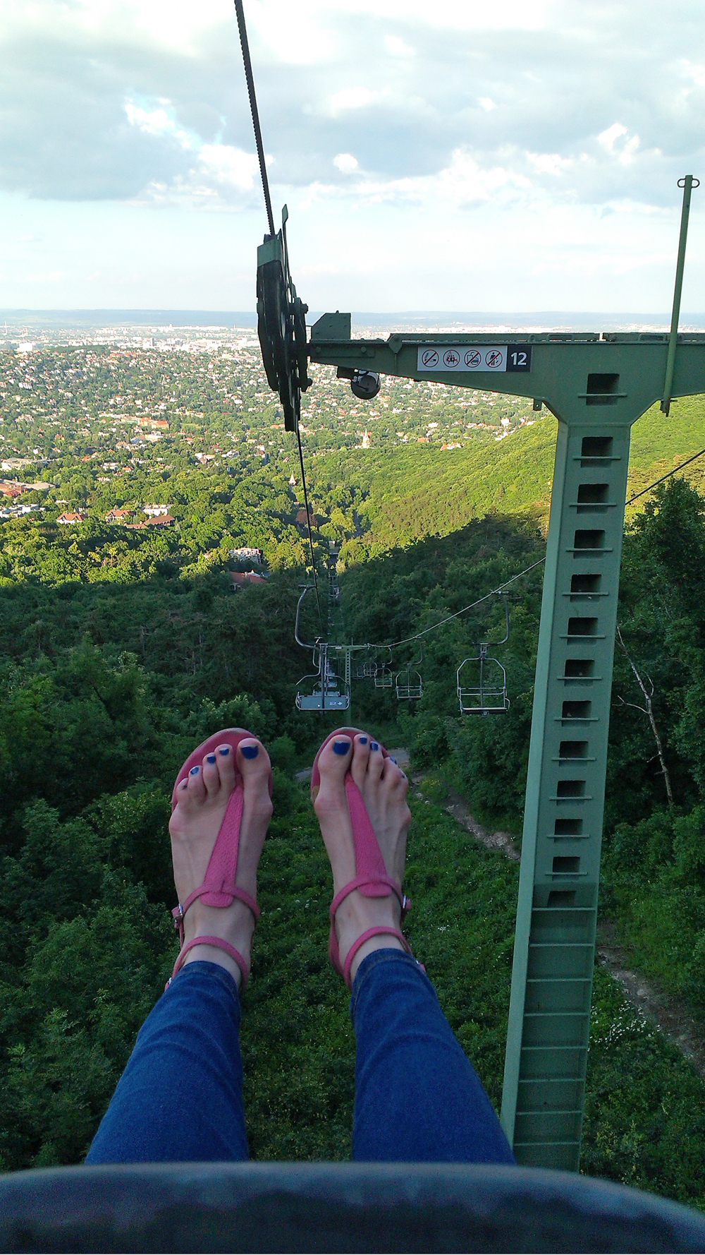 View from the chairlift, János Hill - Top 5 viewpoints in Budapest Hungary, recommended by a local | Aliz's Wonderland
