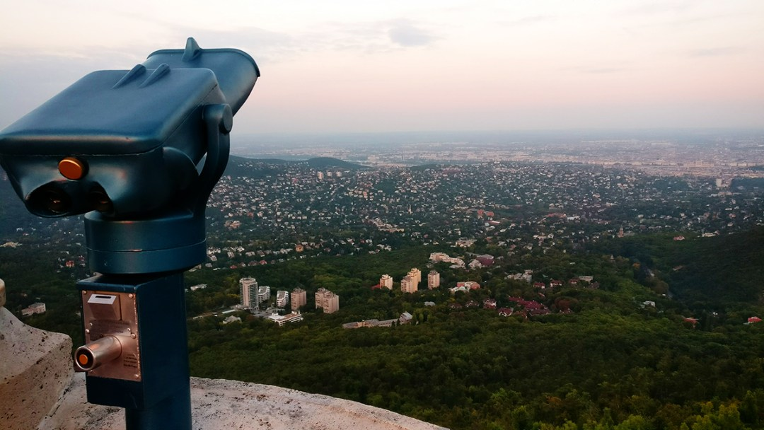 Panorama from Elisabeth Lookout Tower, János Hill - Top 5 viewpoints in Budapest Hungary, recommended by a local | Aliz's Wonderland