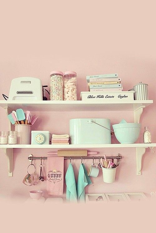 Pastel pink kitchen mood - Warm up your home with pink wall colour | Aliz's Wonderland