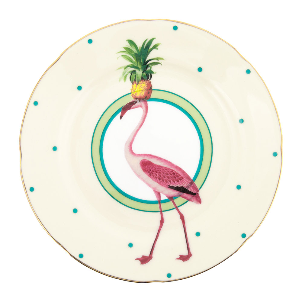 Flamingo cake plate by Yvonne Ellen - Decorate your home with flamingos | Aliz's Wonderland
