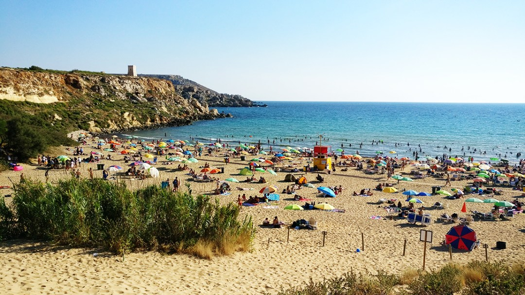 The sandy Golden bay beach (Ir-Ramla tal Mixquqa) - Best beaches in Malta | Aliz's Wonderland