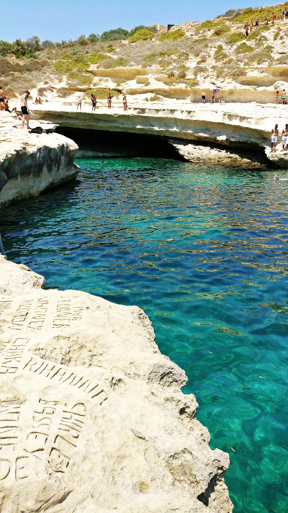 St Peter's Pool, the natural swimming pool - Best beaches in Malta | Aliz's Wonderland