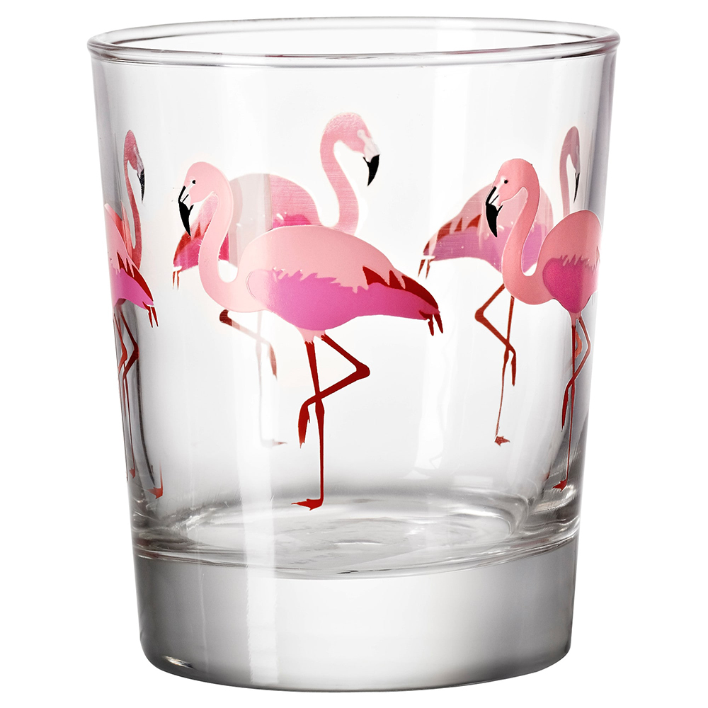Flamingo IKEA glass - Decorate your home with flamingos | Aliz's Wonderland