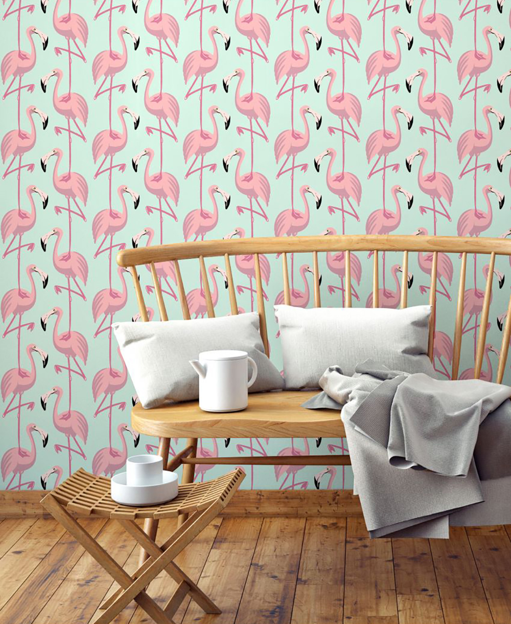 Flamingo premium wallpaper by papermint - Decorate your home with flamingos | Aliz's Wonderland