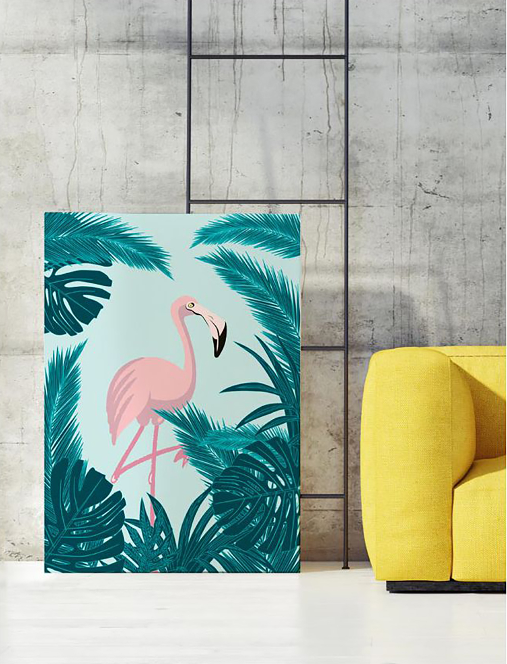 Flamingo poster by papermint can refresh any rooms - Decorate your home with flamingos | Aliz's Wonderland
