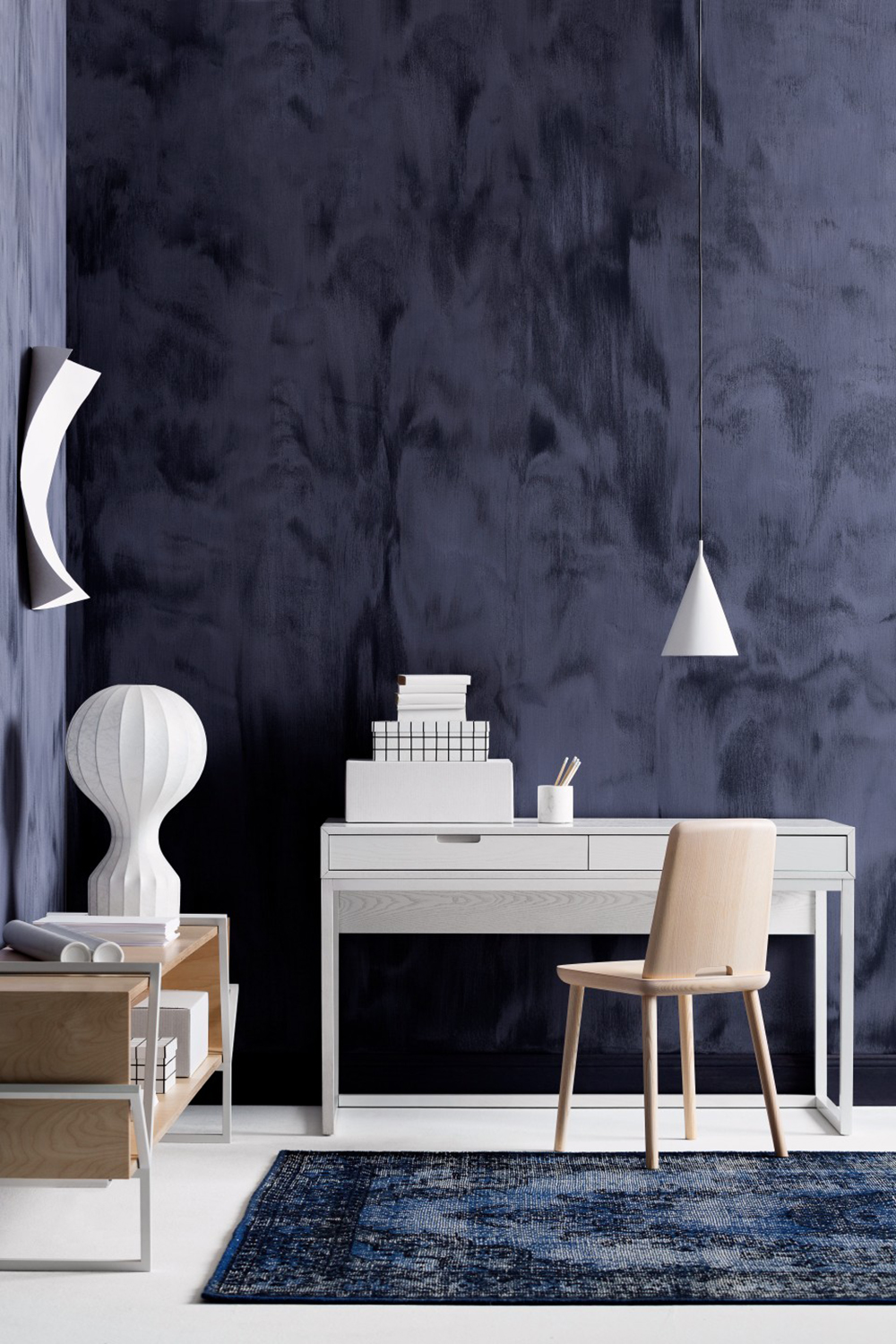 Gravity surface by Haymes Paint adds an elegant texture to every room - 35 ideas for blue wall colour in home decoration | Aliz's Wonderland