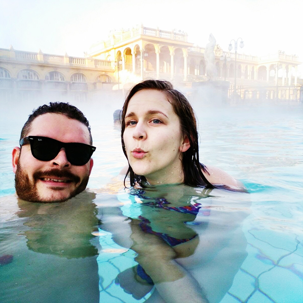 Széchenyi Thermal Bath during winter time - A local's travel guide to Budapest, Hungary - How to get to Budapest? Where to stay? What to do? Where to eat? | Aliz's Wonderland #Budapest #travelguide #Budapestguide