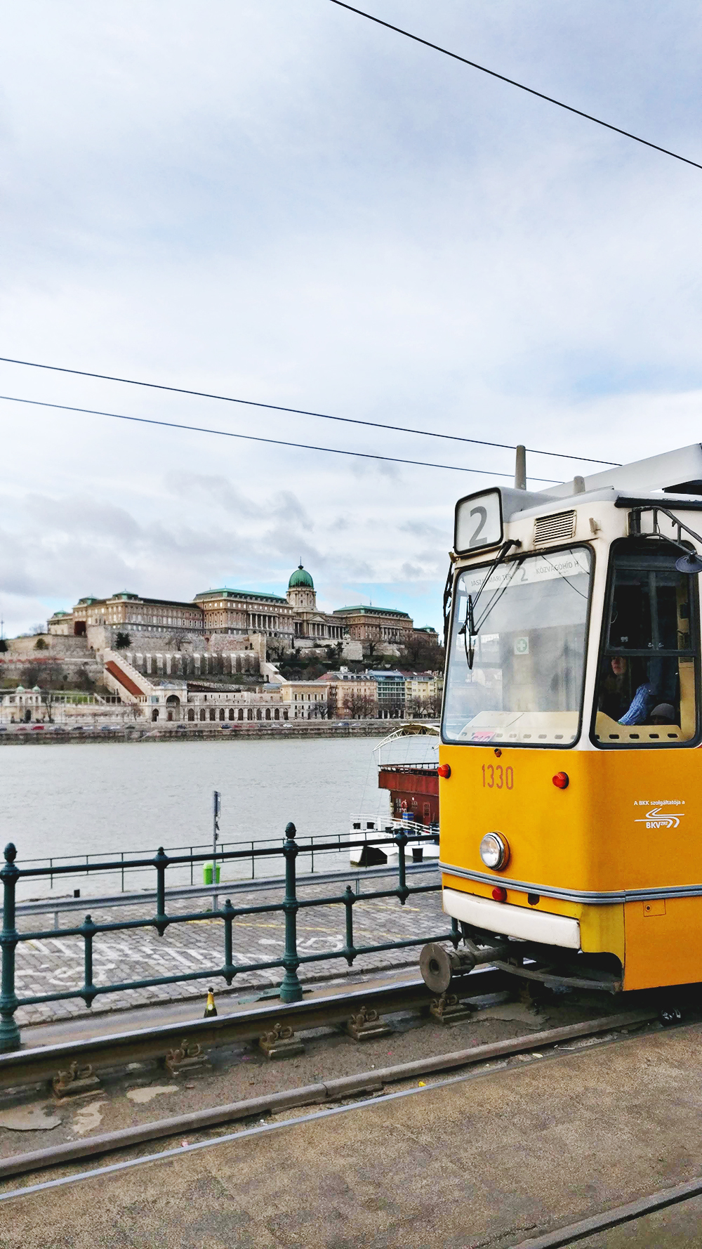 Tram 2, the tourist sightseeing tram - A first-timer's guide to Budapest - Things to know about visiting Budapest, Hungary | Aliz's Wonderland #Budapest #Hungary #travel #travelguide #Budapestguide