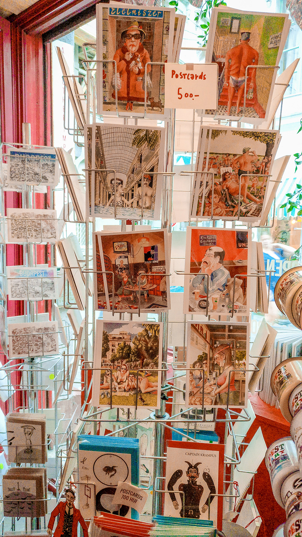 Postcards in Köszi - Budapest design shop guide to best Hungarian souvenirs | Aliz's Wonderland