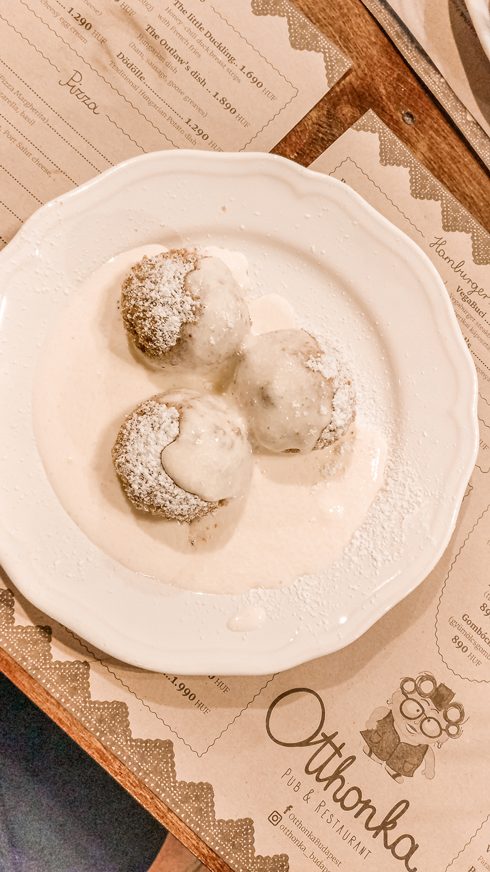 Curd cheese dumpling at Otthonka - Budapest's best Hungarian restaurants, eat like a local | Aliz's Wonderland