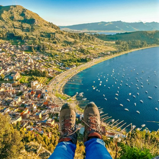 Fight with altitude by climbing Cerro Calvário - 6 reasons to add Copacabana and Lake Titicaca to your Bolivian itinerary | Aliz's Wonderland