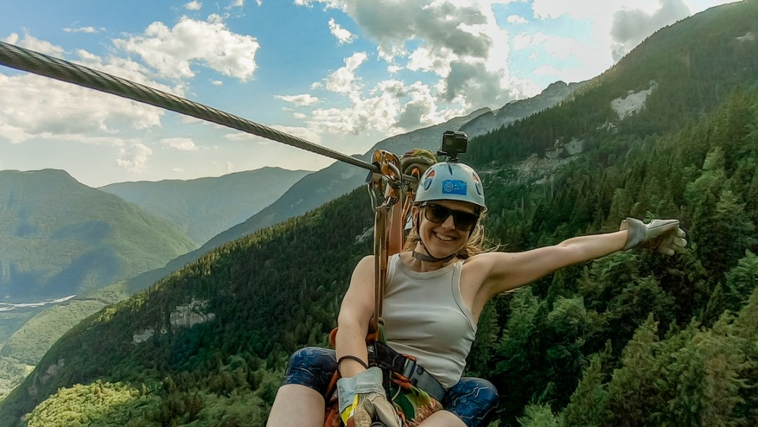 Zipline in Krnica valley, Bovec - Must-try adventures and activities in Bovec and Soca valley, Slovenia - Canyoning, rafting and zipline | Aliz's Wonderland