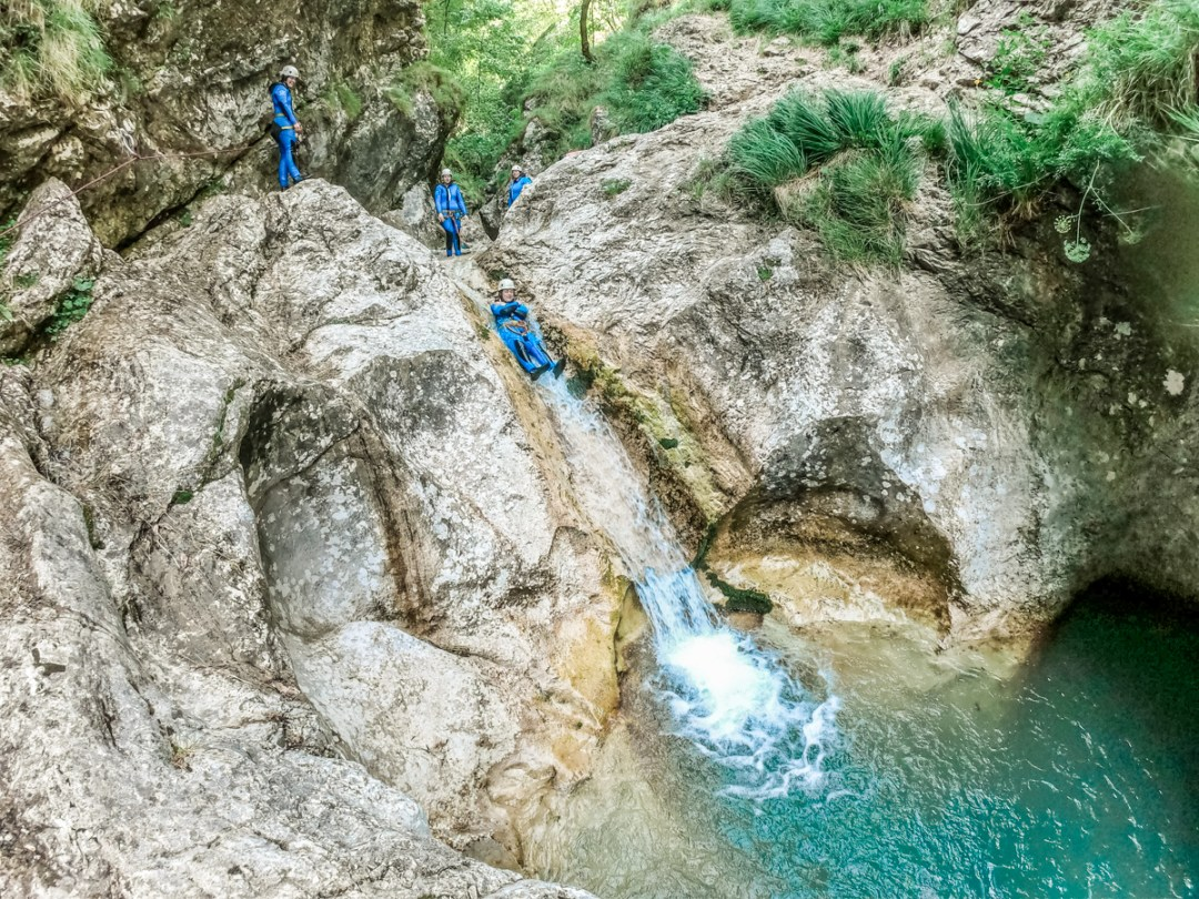 Canyoning Susec, Soča valley - 4-day Slovenia travel itinerary for the best outdoor adventures | Aliz's Wonderland