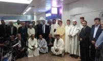 وصول وفد الأئمة و المرشدين الدينيين لمطار بروكسيل الدولي.