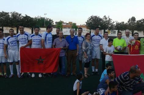 احتفالا بذكرى عيد العرش, دوري في كرة القدم من توقيع جمعية المهاجرين المغاربة بخيرونا الاسبانية