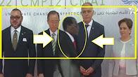 رئيس إفريقي داعم للبوليساريو جاي سكران لكوب 22،شوفو كيفاش عاقو به وكيفاش سلم عليه الملك و بانكيمون