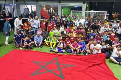 القنصلية العامة للمملكة المغربية ببروكسيل تنظم دوريا لكرة القدم لدعم ملف تنظيم المغرب لكأس العالم 2026.