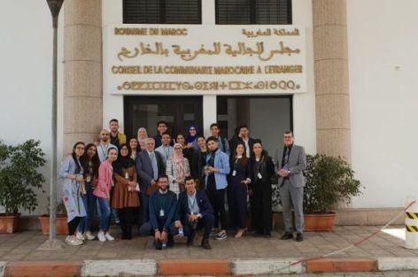 زيارة وفد من الطلبة المغاربة من إسبانيا إلى مجلس الجالية المغربية بالخارج.