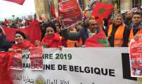 Diapo-Vidéo – Des Marocains d'Europe manifestent contre la profanation du drapeau et célèbrent le 44ème anniversaire de la marche verte.