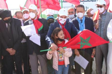 بالكركرات الوزير أمزازي رفقة فعاليات أسرة التربية و التكوين لدعم الوحدة الترابية