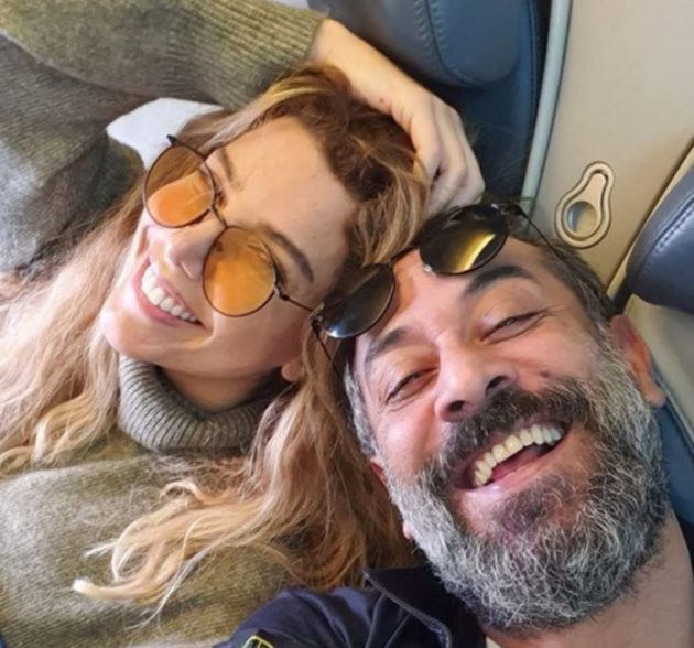 Abdel Moneim Al-Amairi and his new Lebanese bride, singer Dana Al-Halabi